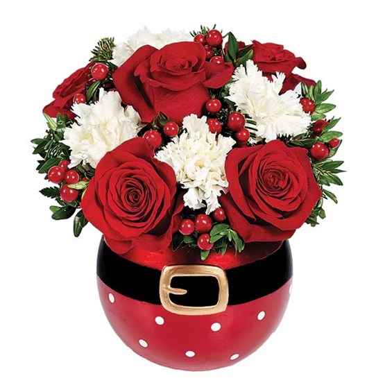 """Santa's Surprise"" flower bouquet for holiday gifts (BF369-11KM)"